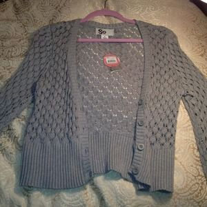 Tops - Grey cropped cardigan