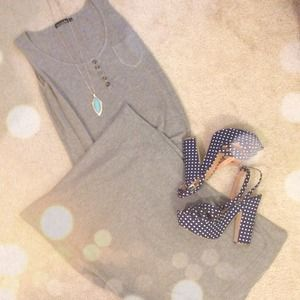 Dresses & Skirts - Cotton Grey Maxi Dress