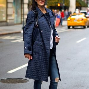 Miu Miu Jackets & Blazers - Miu Miu rain coat in blue with belt