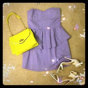 Dresses & Skirts - Lilac Peplum Dress