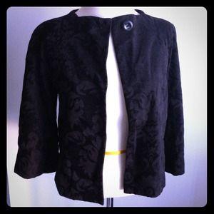 Penguin black fabric jacket