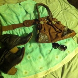 Handbags - *!!! SOLD !!!* Bling brown leather purse