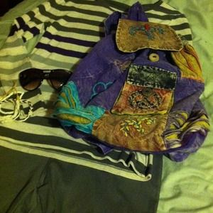 Handbags - ▪▪ SOLD ▪▪ Multicolor Bohemian backpack purse