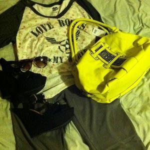 Handbags - 《 SOLD 》Yellow bling purse