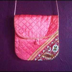 Silk-Quilted Flap-Bag