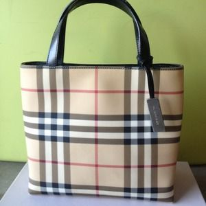 Burberry Nova Check Mini Tote Bag