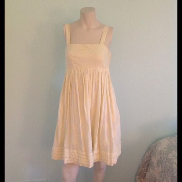 Gap Pale Yellow Garden Party Dress From Emily S Closet