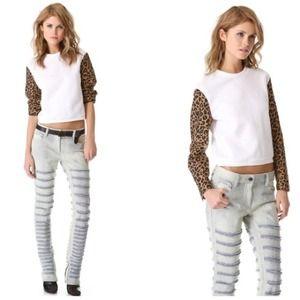 3.1 Phillip Lim Leopard-Print Jacquard Pullover