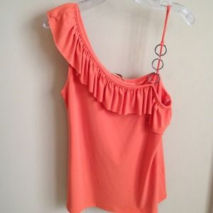 Gemstone Medium Orange One Shoulder Top