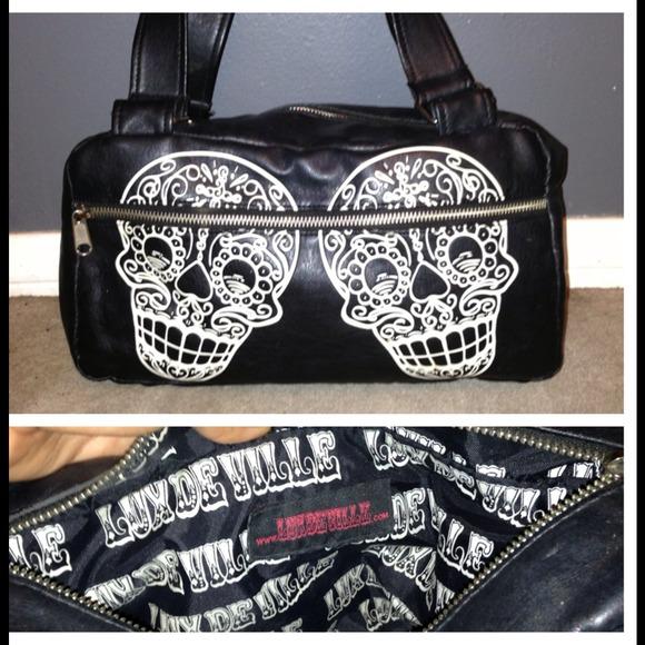 Lux De Ville Bags - Lux De Ville Sugar Skull purse