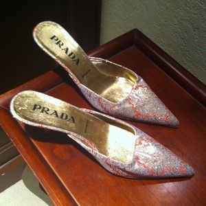 Prada backless slip on GORGEOUS shoe
