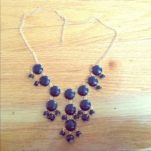 Black mini bubble necklace
