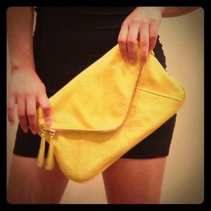 Clutches & Wallets - Sold! Yellow clutch from francesca's
