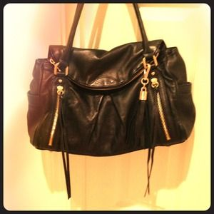 Black leather BOTKIER handbag