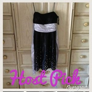 Dresses & Skirts - 🎀Preppy Glam HP🎀 black /Silver party dress💃