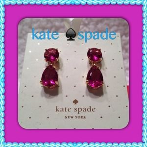 Kate Spade ♠Tear drop earrings % authentic!!!