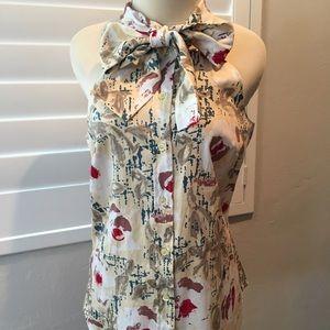 Moschino Floral Print Cotton Top EU 42/ US 8 NWT