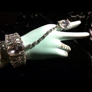 Jewelry - VERY BLING Slave Cuff Bracelet stunning Ring💎NWOT