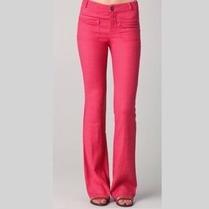 Ella Moss Red Penny Linen Pants 4 NWT