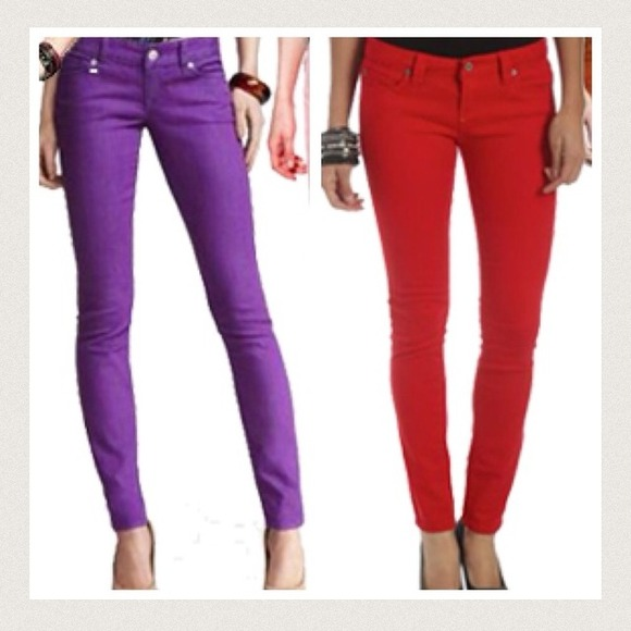 Fashion2Love CHR Classic Fashion Colored Jeans Destroyed Ripped Skinny Jeans. Sold by Fashion2love. $ $ McGuire Denim Womens Stretch Distressed Colored Skinny Jeans. Sold by BHFO. $ $ Earl Jean Womens Colored 5 Pocket Skinny Jeans. Sold by BHFO. $ $