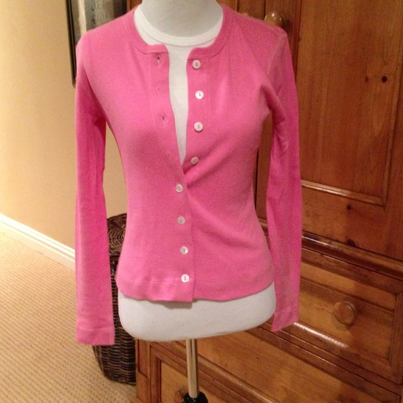 Three Dots - Bubblegum pink cardigan. Great for layering. from ...