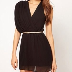 Host Pick Asymmetric dress with glitter belt