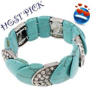 Turquoise & Crystal BRACELETHOST PICK