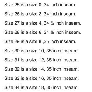 Miss Me - Miss me jeans size chart conversion. from Peggy's closet ...