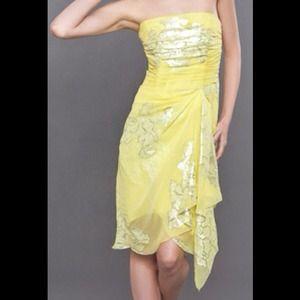 Nicole Miller Strapless Dress