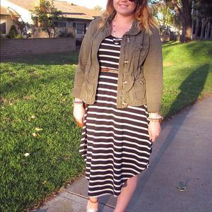 Target Striped Dip Dress