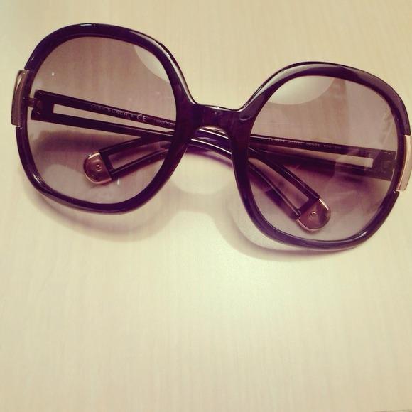 Tory burch dark purple sunglasses