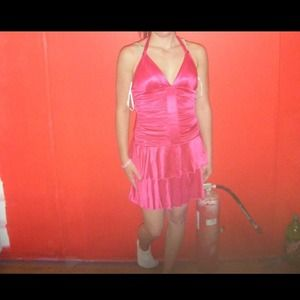 Hot pink cocktail/homecoming dress