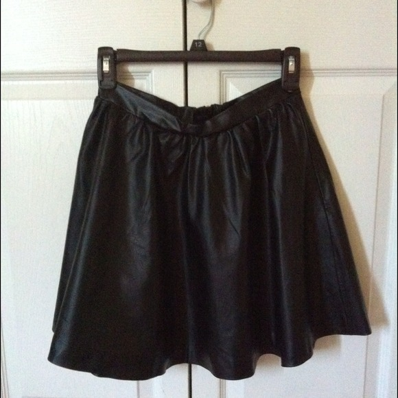 56% off Dresses & Skirts - TRADED @evanne High waisted leather ...