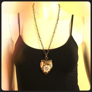 Jewelry - Multi color shield charm necklace