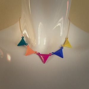 Jewelry - Multi color flag necklace