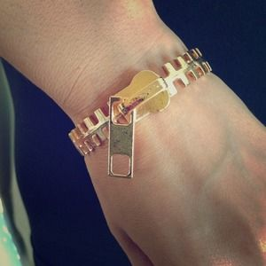 Zipper bangle bracelet