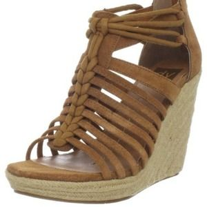 Dolce Vita leather wedge sandals
