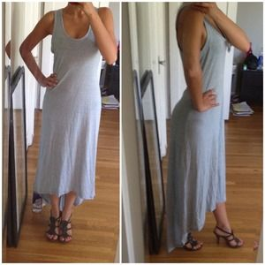 Alternative apparel maxi baby blue high low dress