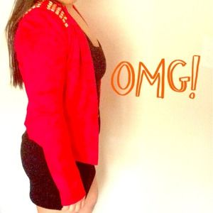 ❌BUNDLED❌ Red Studded Blazer