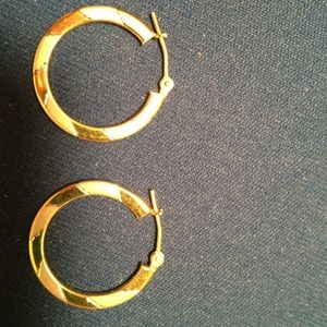 Jewelry - 14k two tone gold earrings (ON HOLD)