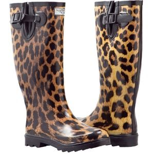 51% off J. Crew Boots - J.Crew CHELSEA LEOPARD RAIN BOOTS from ...