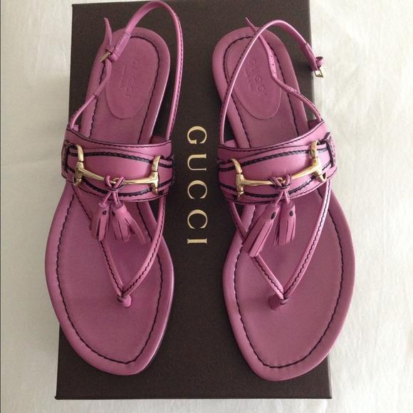 b8d38c7d1b5d Authentic Gucci Horsebit Thong Sandals