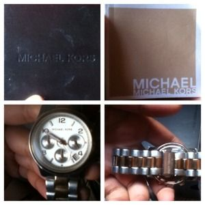 Michael kors mono tone watch