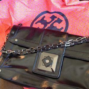 Tory Burch Black Purse or Large Clutch Bag