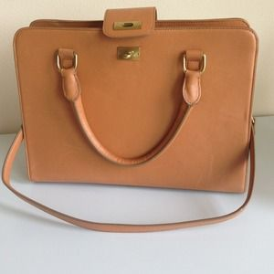 J. Crew Edie Attache Bag in camel color