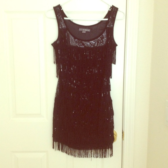 Forever 21 Dresses Black Sequin Flapper Dress Poshmark