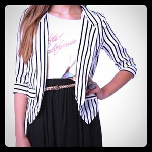 HOST PICK!Sparkle & Fade Striped Blazer by UO