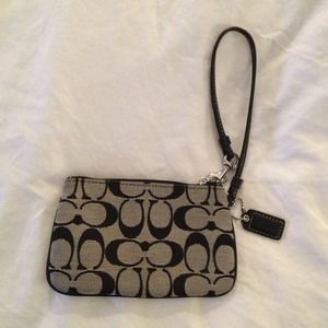 authentic Coach Legacy Wristlet (small)