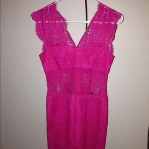 Women's Pink Bcbgmaxazria Lace Dress on Poshmark
