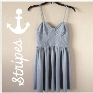 Dresses & Skirts - Navy Railroad Striped Dress